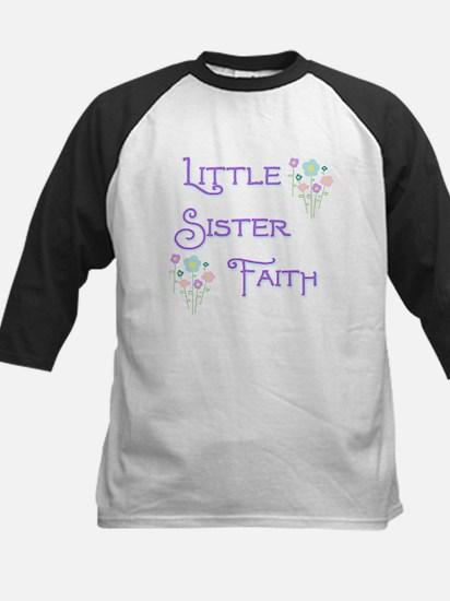 Little Sister Faith Kids Baseball Jersey