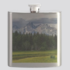 Mountains,River and Forest Landscape Flask