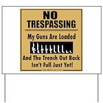 No Tresspassing Yard Sign