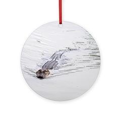 Brandon FL Pond Alligator Ornament (Round)