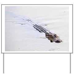 Brandon FL Pond Alligator Yard Sign