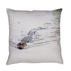 Brandon FL Pond Alligator Everyday Pillow