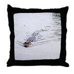 Brandon FL Pond Alligator Throw Pillow