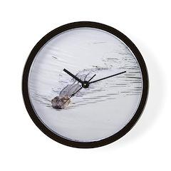 Brandon FL Pond Alligator Wall Clock