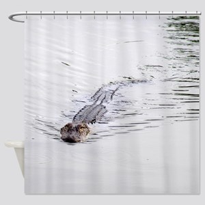 Brandon FL Pond Alligator Shower Curtain