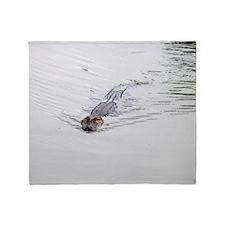 Brandon FL Pond Alligator Throw Blanket