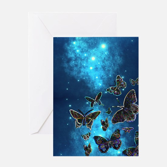Night Flight Greeting Cards