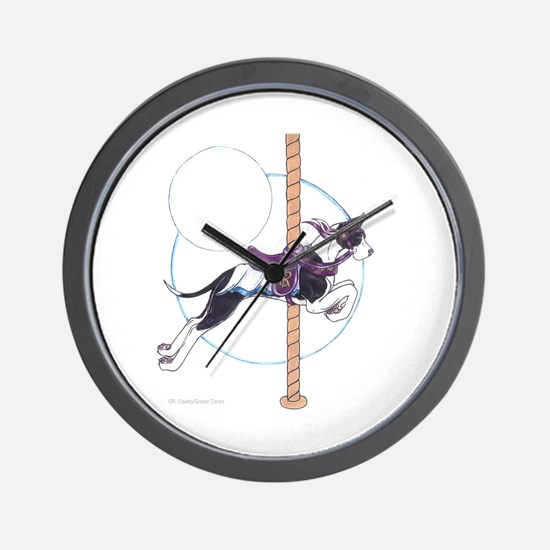C Mtl Carousel Wall Clock