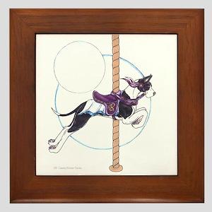 CMtl GD Carousel Dog Framed Tile