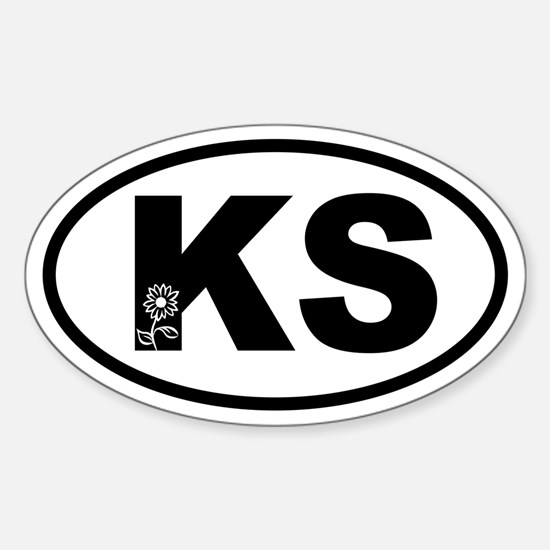 Kansas Sunflower Oval Decal