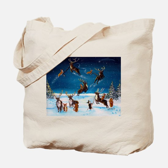 Flying Lessons Corgis & Reind Tote Bag