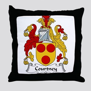 Courtney Family Crest Throw Pillow