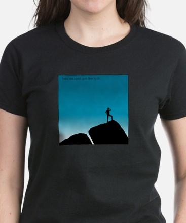 The Road Less Traveled Women's Dark T-Shirt