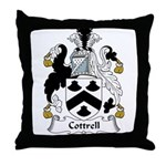 Cottrell Family Crest Throw Pillow
