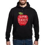 I Support Teachers Hoodie (dark)