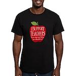 I Support Teachers Men's Fitted T-Shirt (dark)