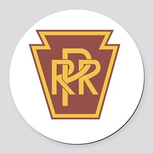 Pennsylvania Railroad Logo Round Car Magnet