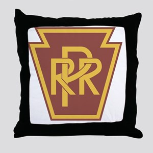 Pennsylvania Railroad Logo Throw Pillow