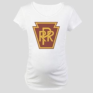 Pennsylvania Railroad Logo Maternity T-Shirt