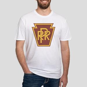 Pennsylvania Railroad Logo Fitted T-Shirt