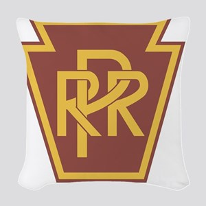 Pennsylvania Railroad Logo Woven Throw Pillow