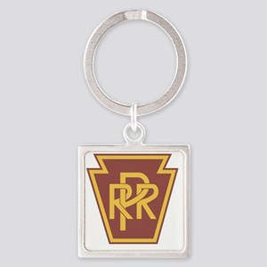 Pennsylvania Railroad Logo Square Keychain