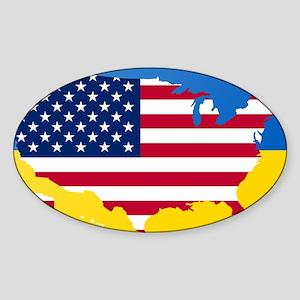 Ukrainian-American Sticker