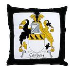 Corben Family Crest  Throw Pillow
