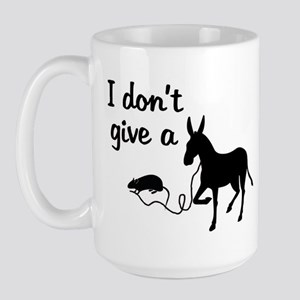 I Don't Give a Rat's Ass Large Mug