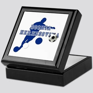 Bosnia Football Player Keepsake Box