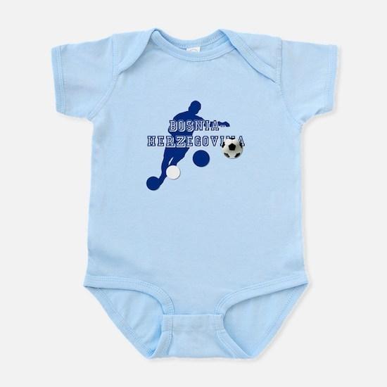 Bosnia Football Player Infant Bodysuit