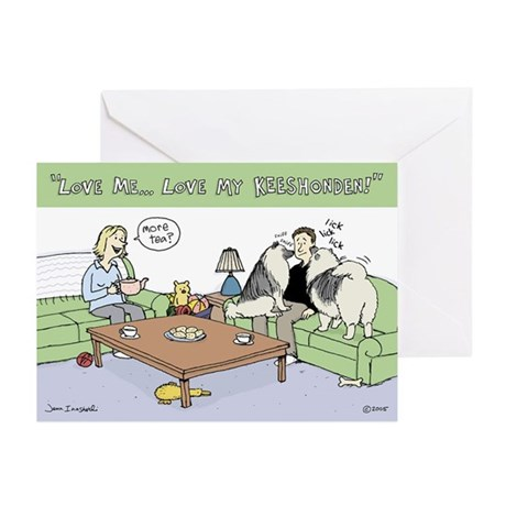 Love My Keeshonden Greeting Cards (Pk of 20)