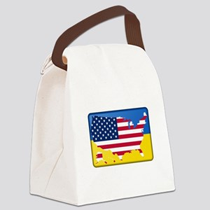 Ukrainian-American Canvas Lunch Bag