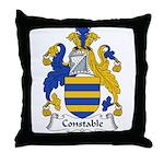 Constable Family Crest Throw Pillow