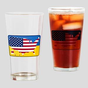 Ukrainian-American Drinking Glass