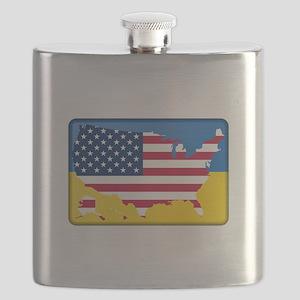 Ukrainian-American Flask