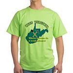 WV Women Green T-Shirt