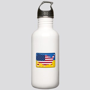 Ukrainian-American Stainless Water Bottle 1.0L