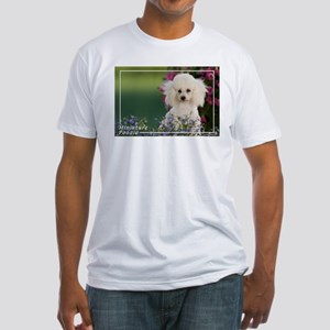 Miniature Poodle-4 Fitted T-Shirt