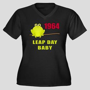 1964 Leap Year Baby Women's Plus Size V-Neck Dark