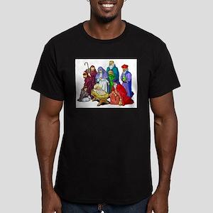 Colorful Christmas Nativity Scene T-Shirt