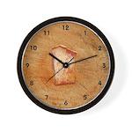 Rock and Wood Wall Clock