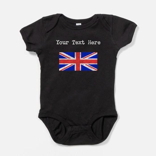 United Kingdom Flag (Distressed) Baby Bodysuit