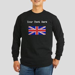 United Kingdom Flag (Distressed) Long Sleeve T-Shi