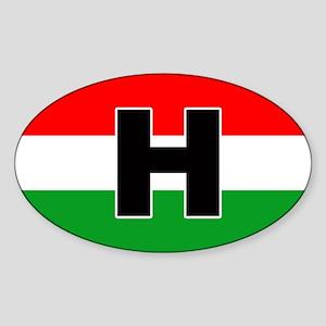 Hungarian Car Sticker Oval Sticker