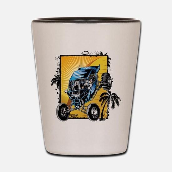 Blue Dune Buggy Shot Glass
