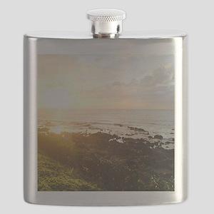 Maui Tidepools at Sunset Flask