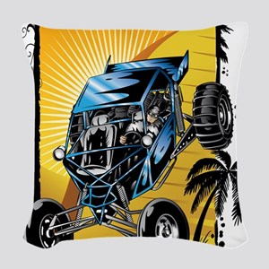 Blue Dune Buggy Woven Throw Pillow