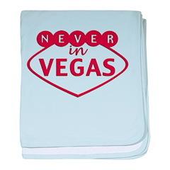 Never in Vegas baby blanket