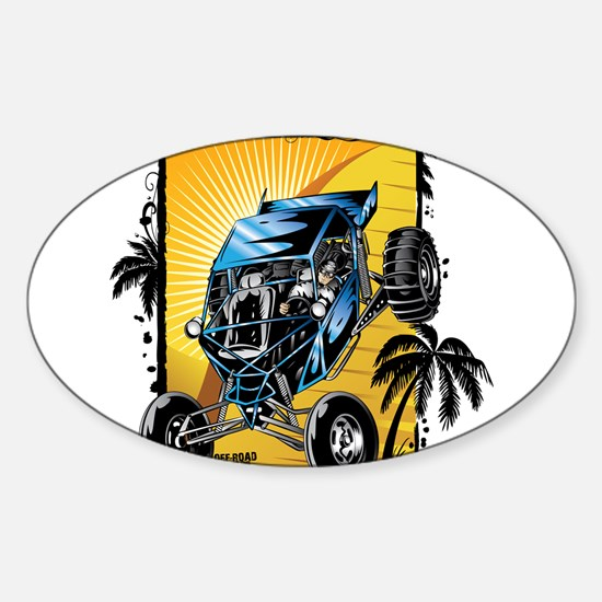 Blue Dune Buggy Bumper Stickers
